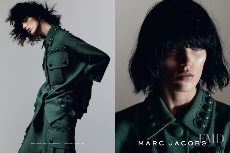 Anja Rubik featured in  the Marc Jacobs advertisement for Spring/Summer 2015