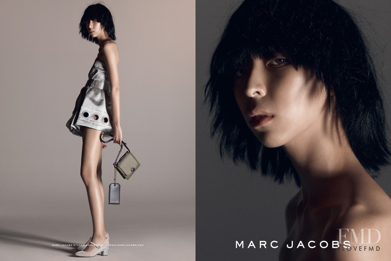 Aya Jones featured in  the Marc Jacobs advertisement for Spring/Summer 2015