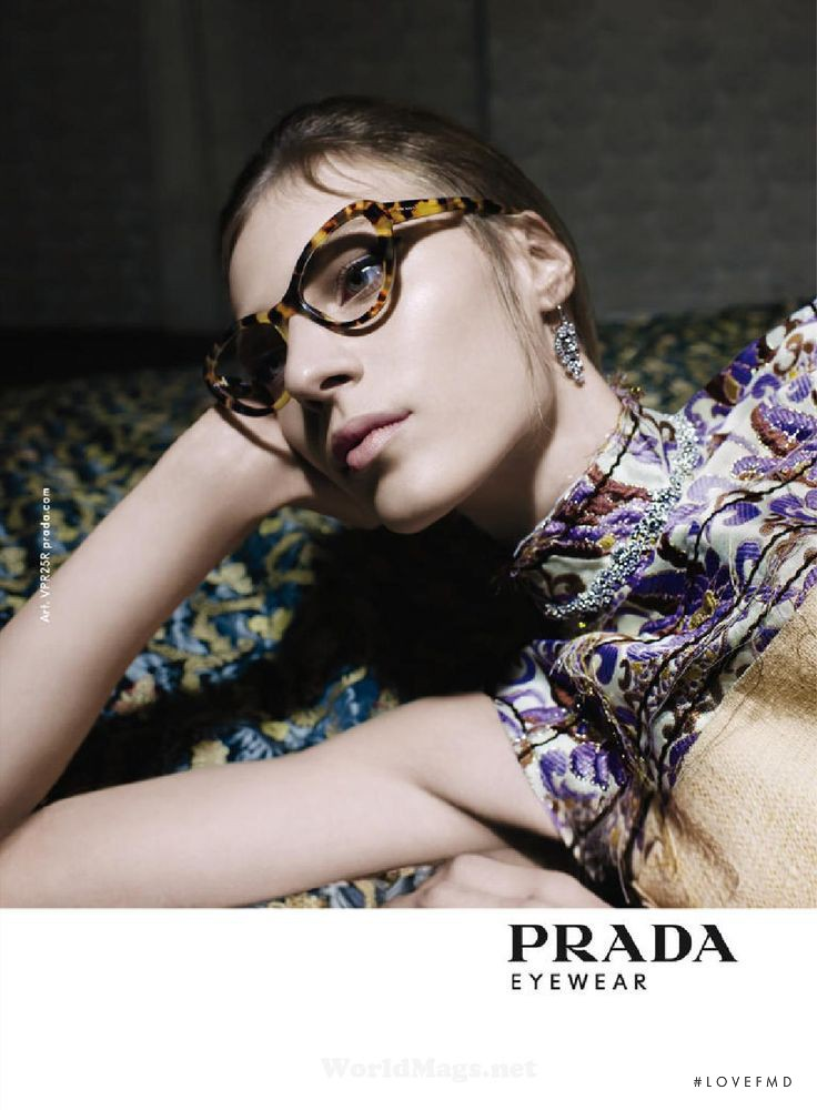 f1754931e7c5 Julia Nobis featured in the Prada Eyewear advertisement for Spring Summer  2015