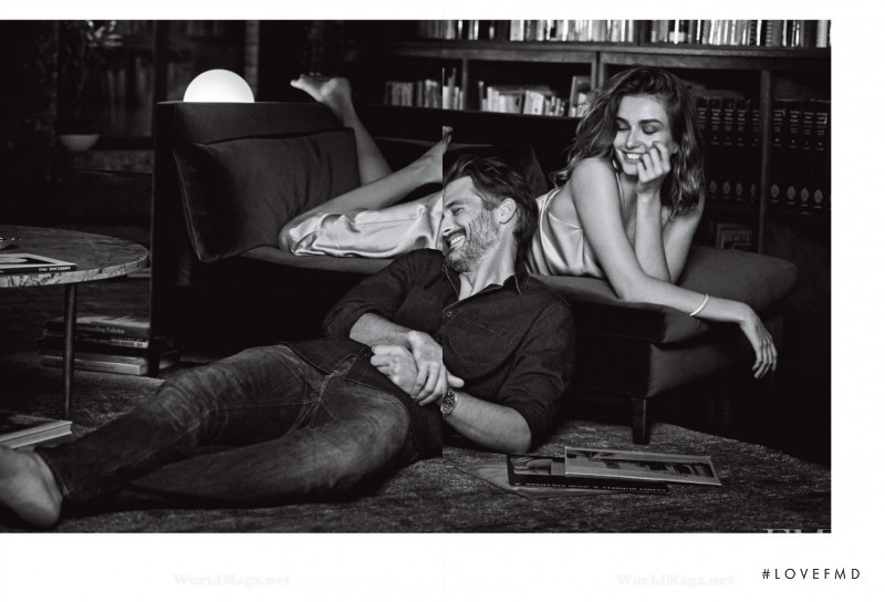 Andreea Diaconu featured in  the Tiffany & Co. advertisement for Spring/Summer 2015