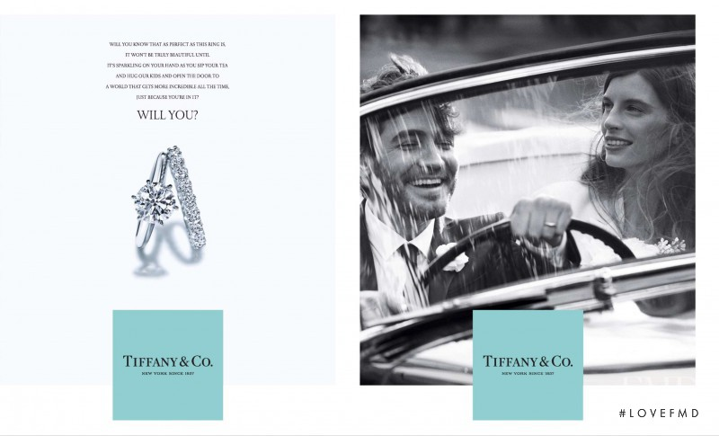 Joséphine Le Tutour featured in  the Tiffany & Co. advertisement for Spring/Summer 2015