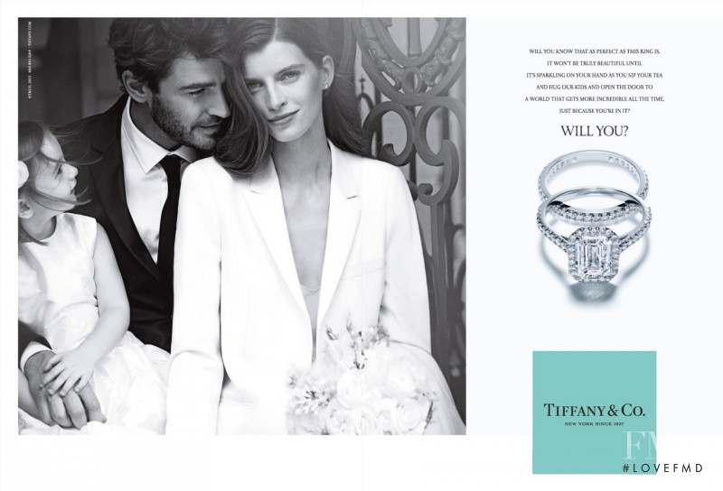 Luca Gadjus featured in  the Tiffany & Co. advertisement for Spring/Summer 2015