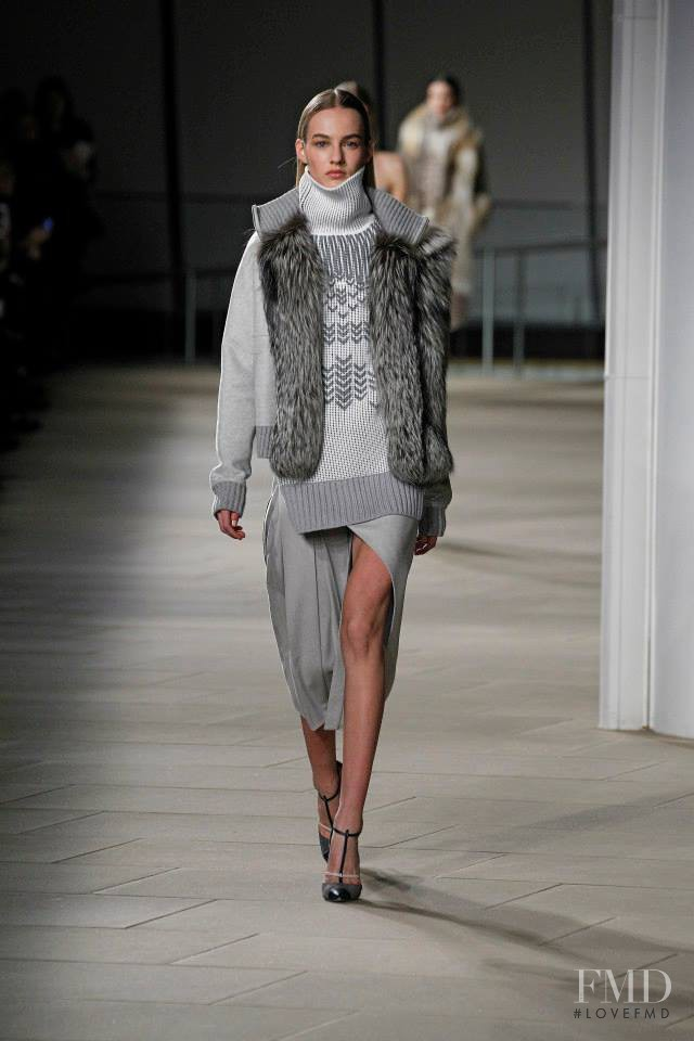 Maartje Verhoef featured in  the Prabal Gurung fashion show for Autumn/Winter 2015