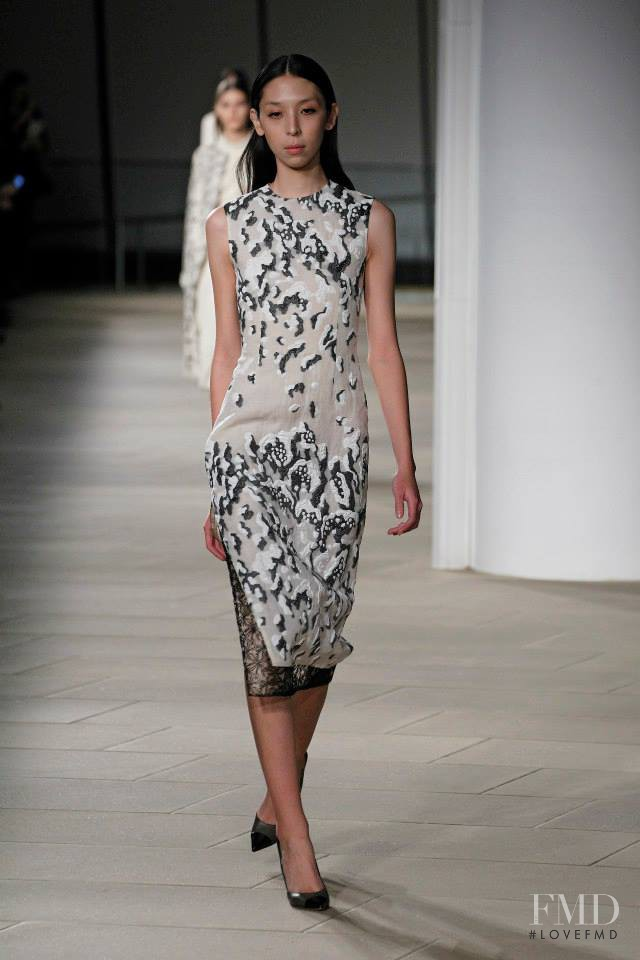 Issa Lish featured in  the Prabal Gurung fashion show for Autumn/Winter 2015