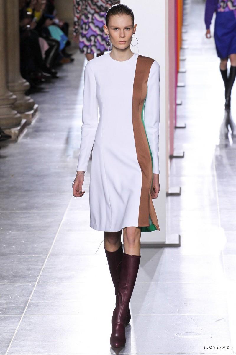 Alexandra Elizabeth Ljadov featured in  the Jonathan Saunders fashion show for Autumn/Winter 2015