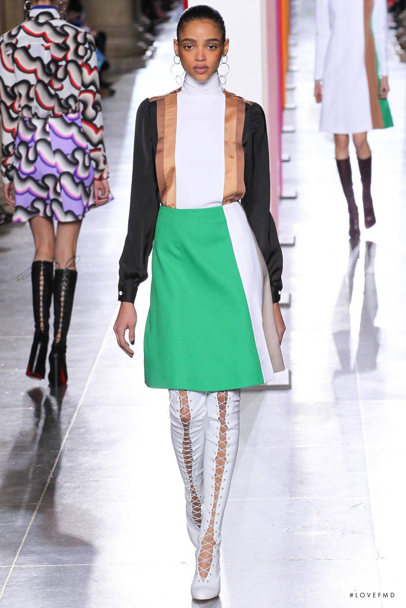 Aya Jones featured in  the Jonathan Saunders fashion show for Autumn/Winter 2015