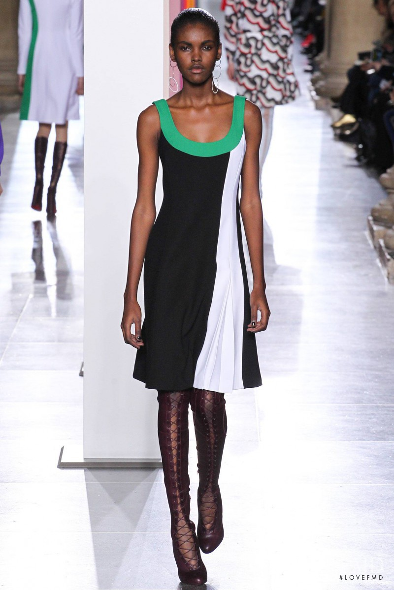 Amilna Estevão featured in  the Jonathan Saunders fashion show for Autumn/Winter 2015