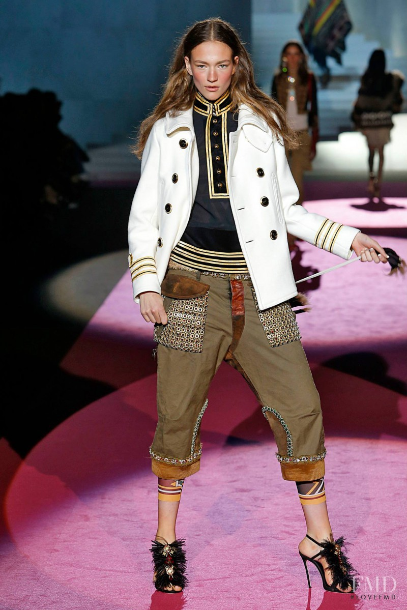 Sophia Ahrens featured in  the DSquared2 fashion show for Autumn/Winter 2015