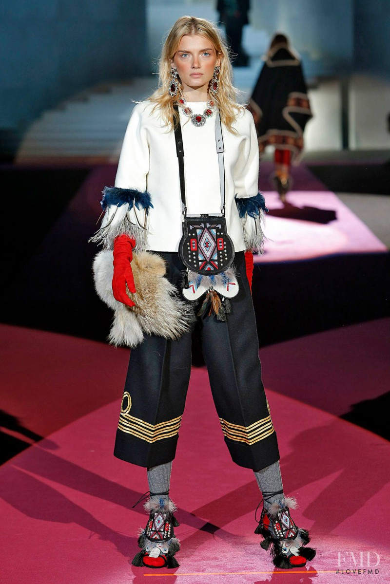 Lily Donaldson featured in  the DSquared2 fashion show for Autumn/Winter 2015
