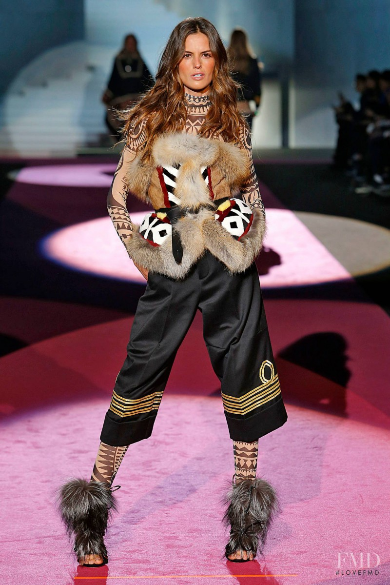 Izabel Goulart featured in  the DSquared2 fashion show for Autumn/Winter 2015