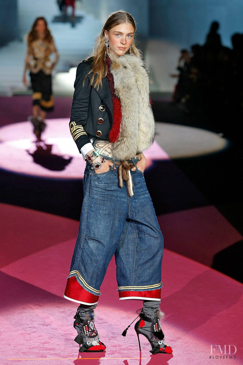 Hedvig Palm featured in  the DSquared2 fashion show for Autumn/Winter 2015