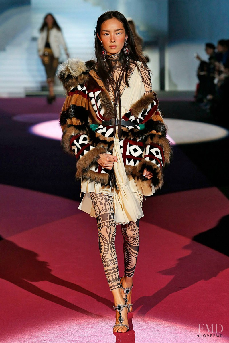 Fei Fei Sun featured in  the DSquared2 fashion show for Autumn/Winter 2015