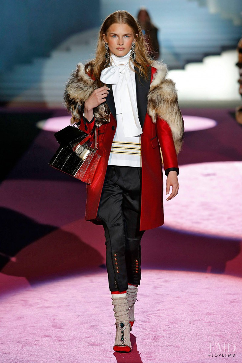 Aneta Pajak featured in  the DSquared2 fashion show for Autumn/Winter 2015