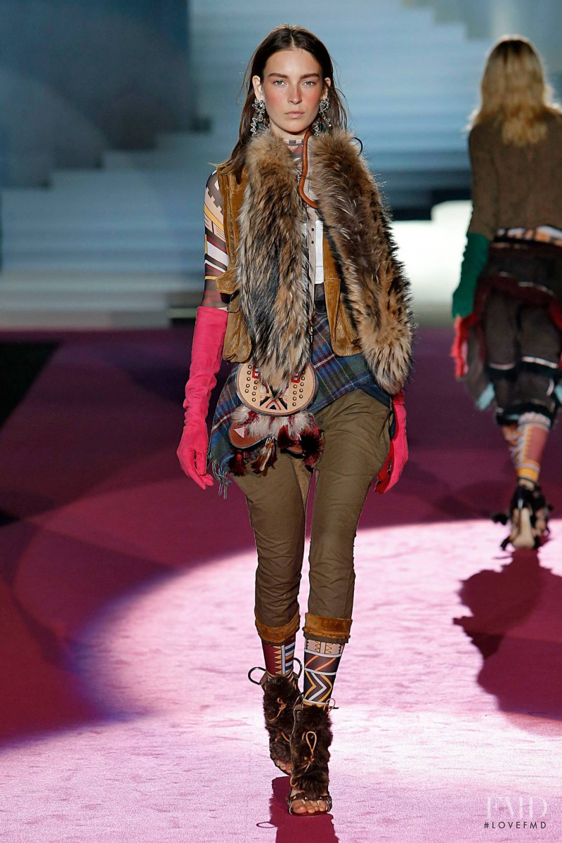 Julia Bergshoeff featured in  the DSquared2 fashion show for Autumn/Winter 2015