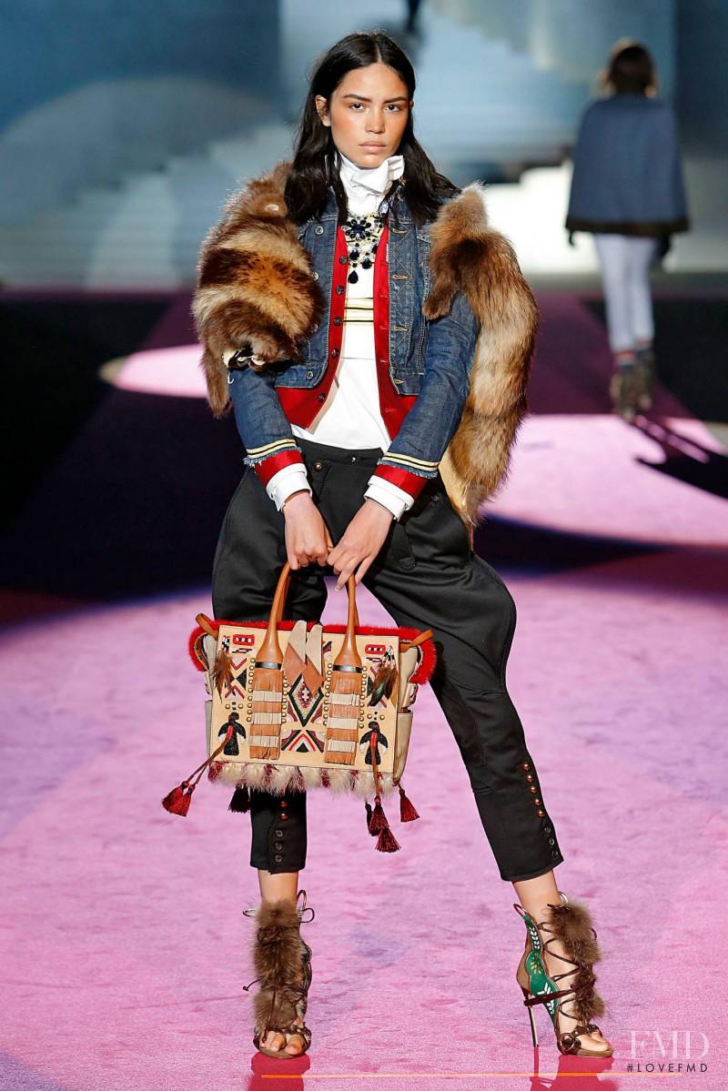 Irina Sharipova featured in  the DSquared2 fashion show for Autumn/Winter 2015
