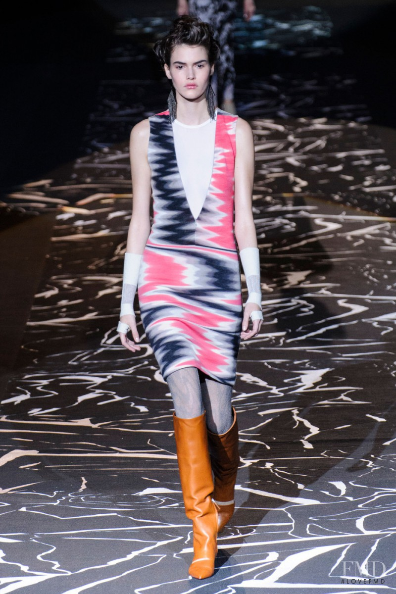 Vanessa Moody featured in  the Missoni fashion show for Autumn/Winter 2015