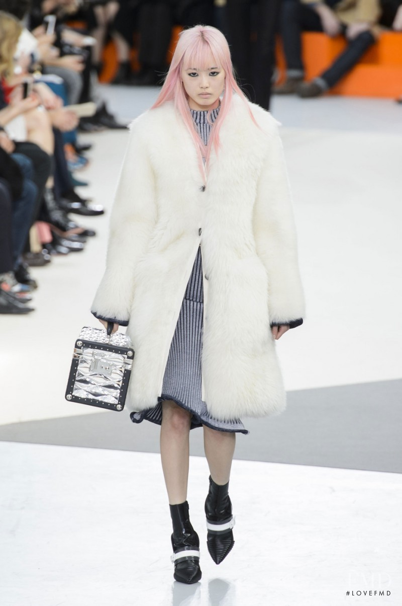 Fernanda Hin Lin Ly featured in  the Louis Vuitton fashion show for Autumn/Winter 2015