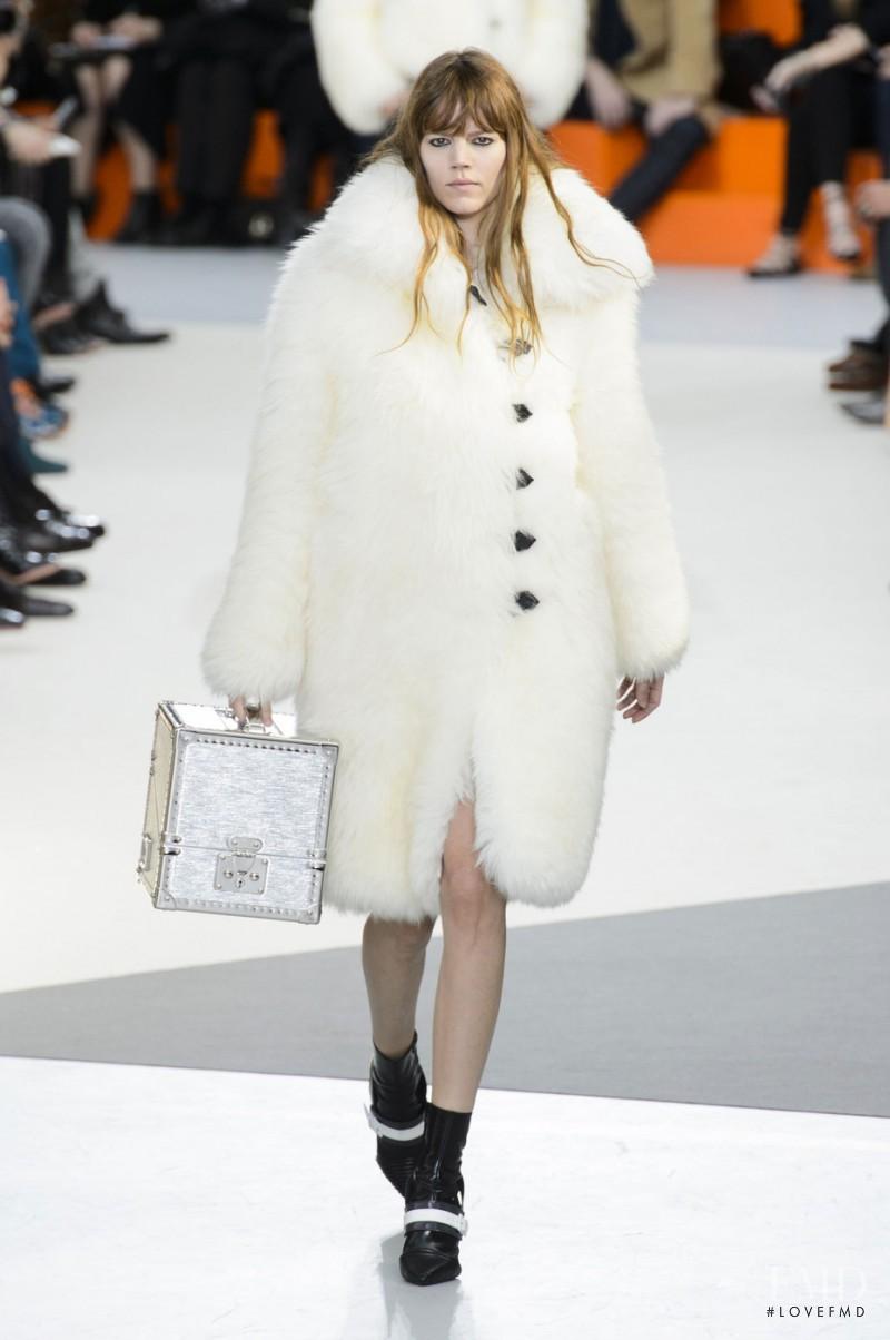 Freja Beha Erichsen featured in  the Louis Vuitton fashion show for Autumn/Winter 2015