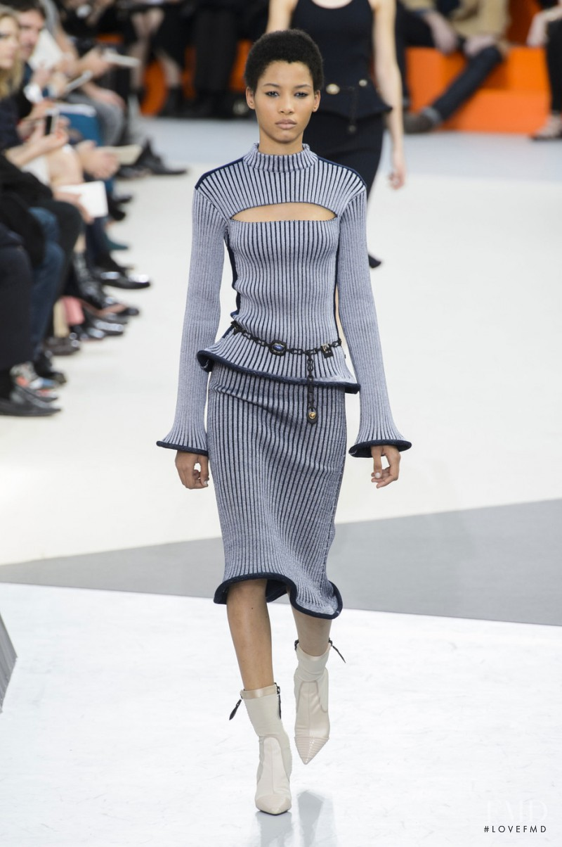 Lineisy Montero featured in  the Louis Vuitton fashion show for Autumn/Winter 2015