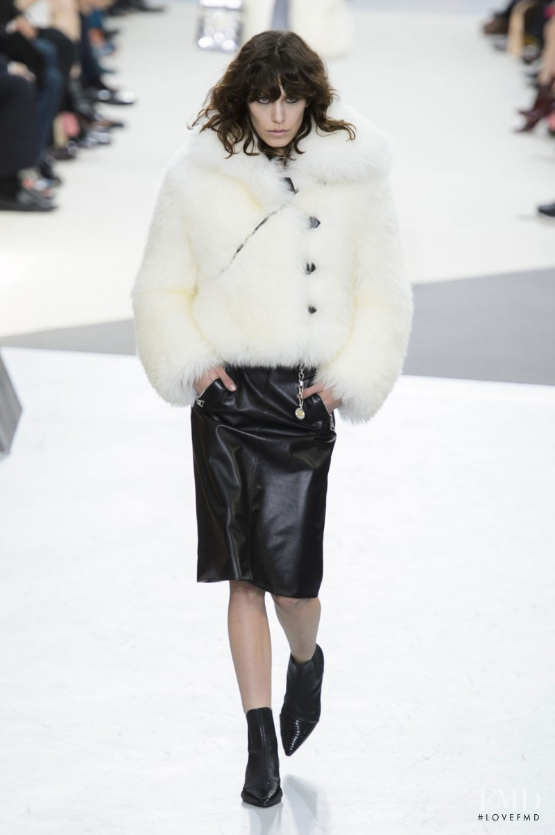 Lorelle Rayner featured in  the Louis Vuitton fashion show for Autumn/Winter 2015