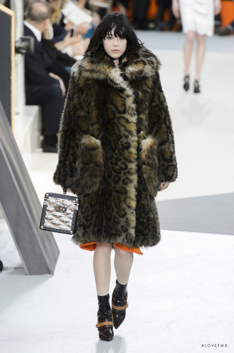 Mae Lapres featured in  the Louis Vuitton fashion show for Autumn/Winter 2015