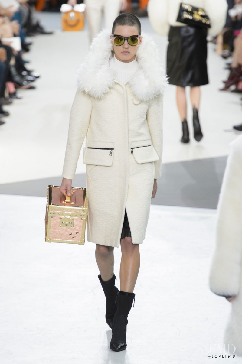 Tamy Glauser featured in  the Louis Vuitton fashion show for Autumn/Winter 2015