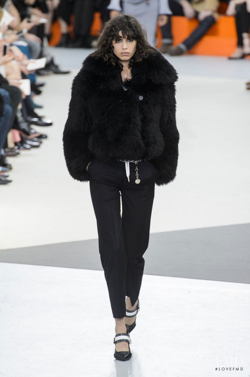 Mica Arganaraz featured in  the Louis Vuitton fashion show for Autumn/Winter 2015