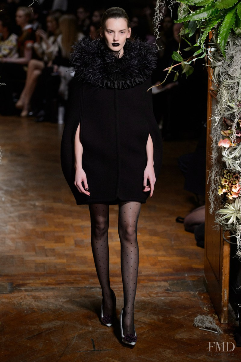 Amanda Murphy featured in  the Giles fashion show for Autumn/Winter 2015