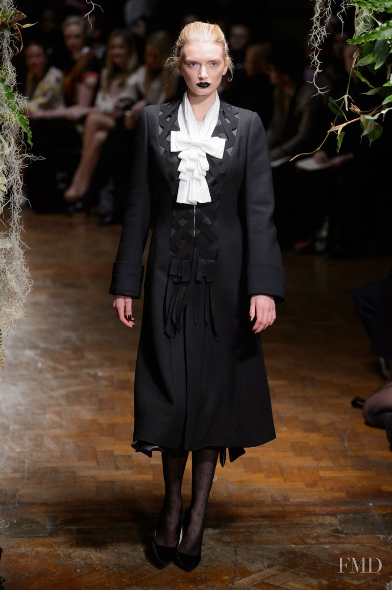Lily Donaldson featured in  the Giles fashion show for Autumn/Winter 2015