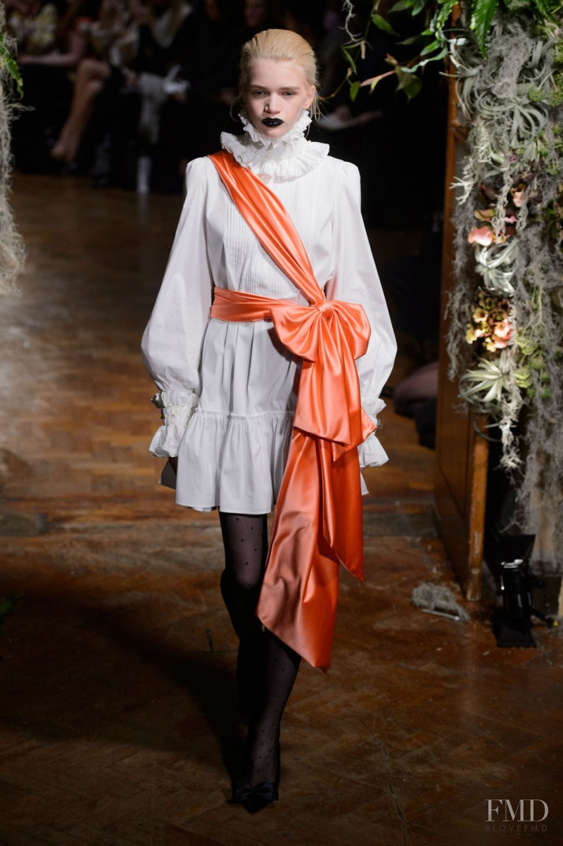 Stella Lucia featured in  the Giles fashion show for Autumn/Winter 2015