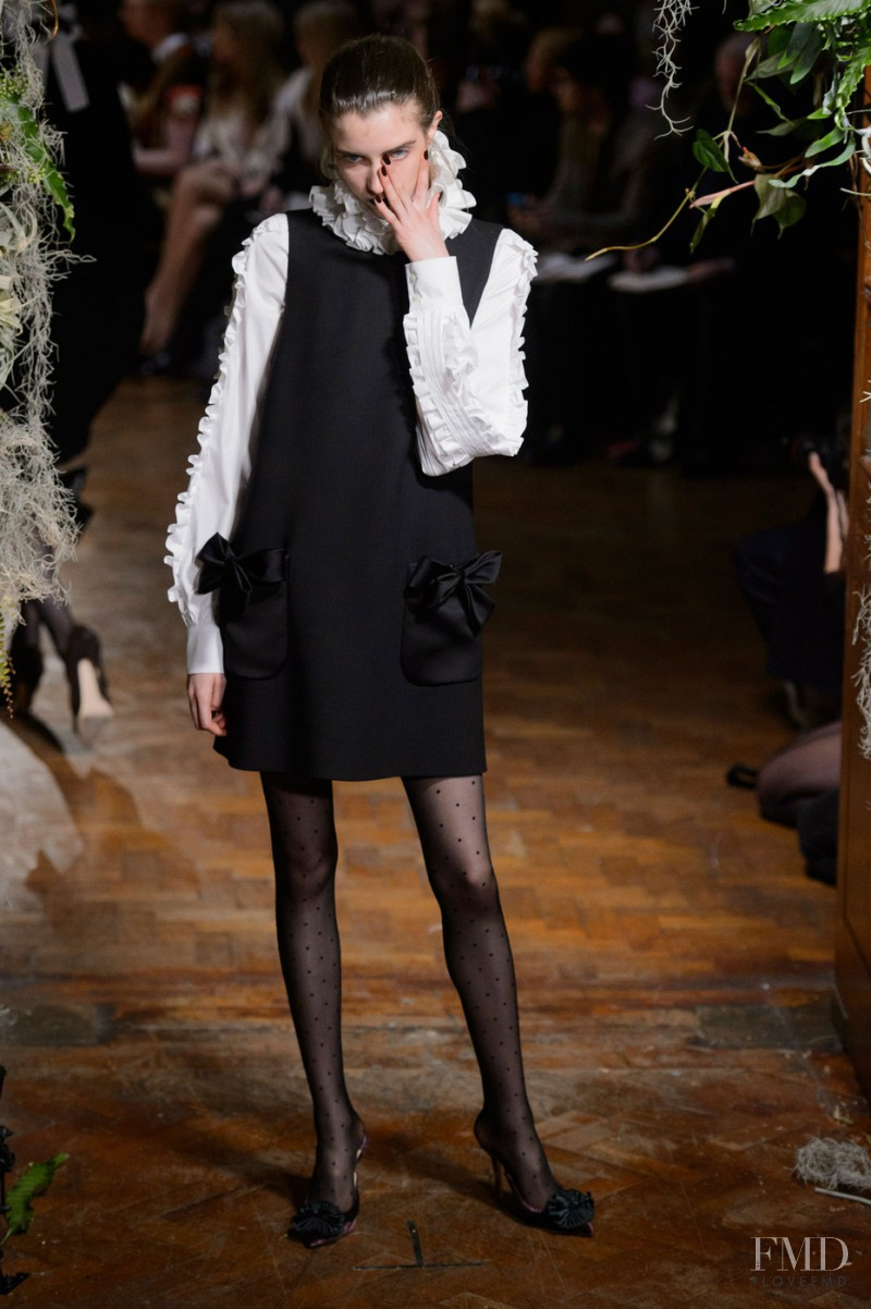 Grace Hartzel featured in  the Giles fashion show for Autumn/Winter 2015