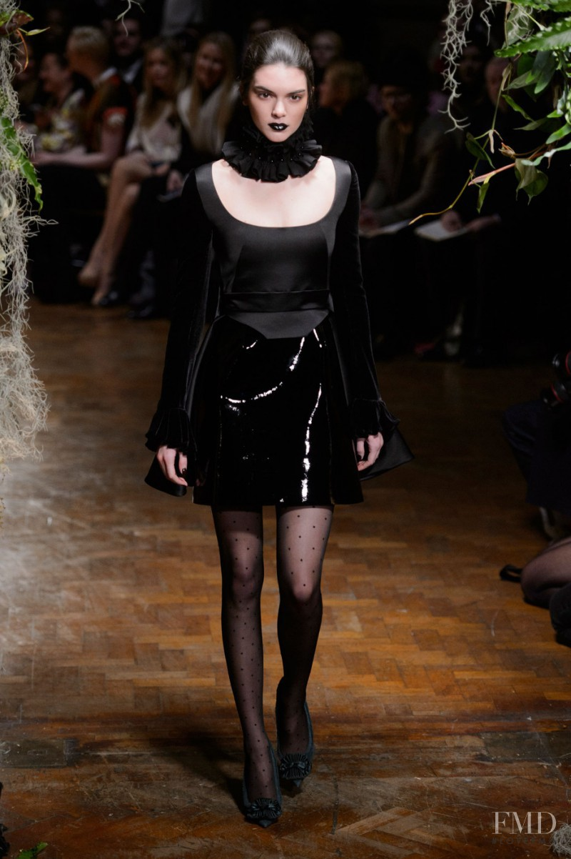 Kendall Jenner featured in  the Giles fashion show for Autumn/Winter 2015