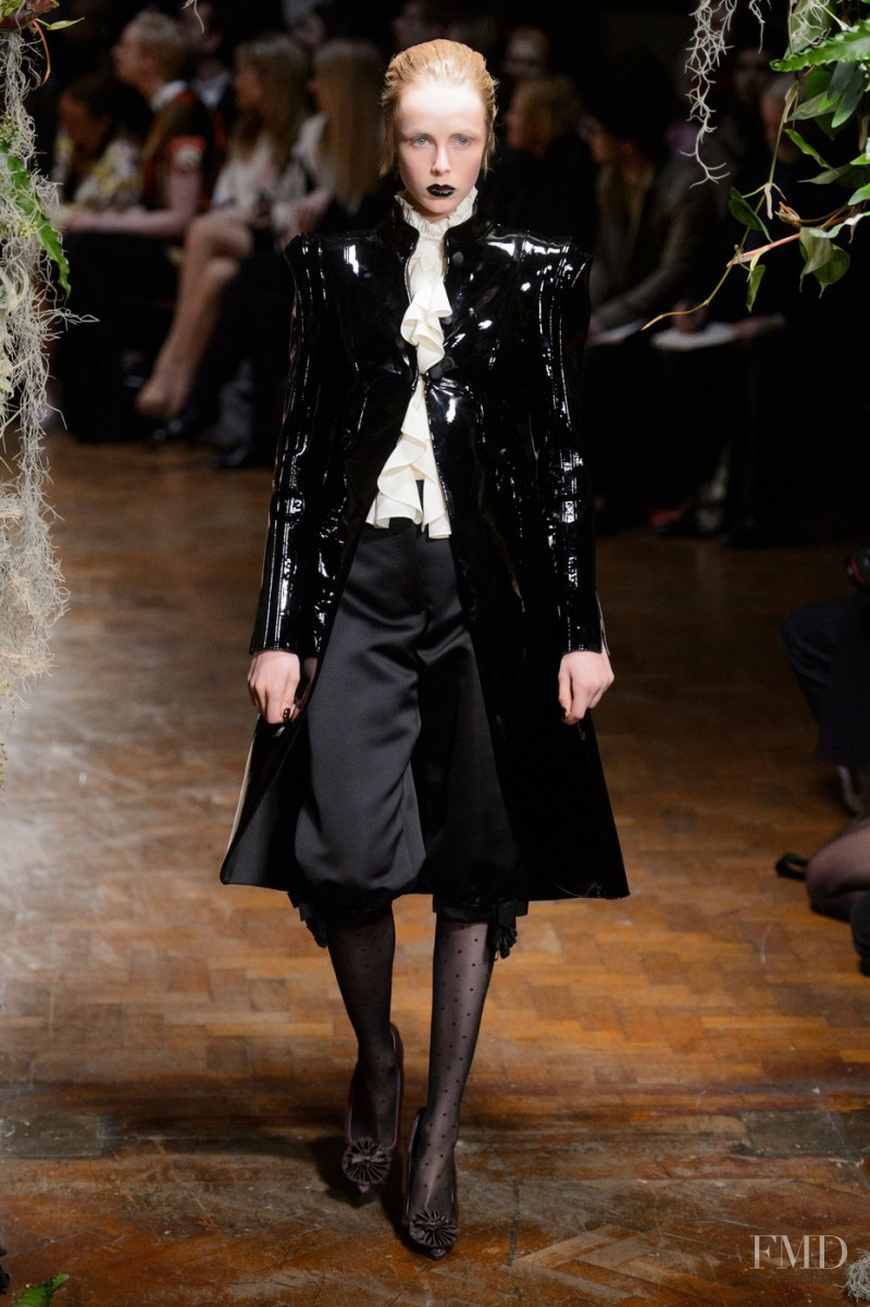 Edie Campbell featured in  the Giles fashion show for Autumn/Winter 2015