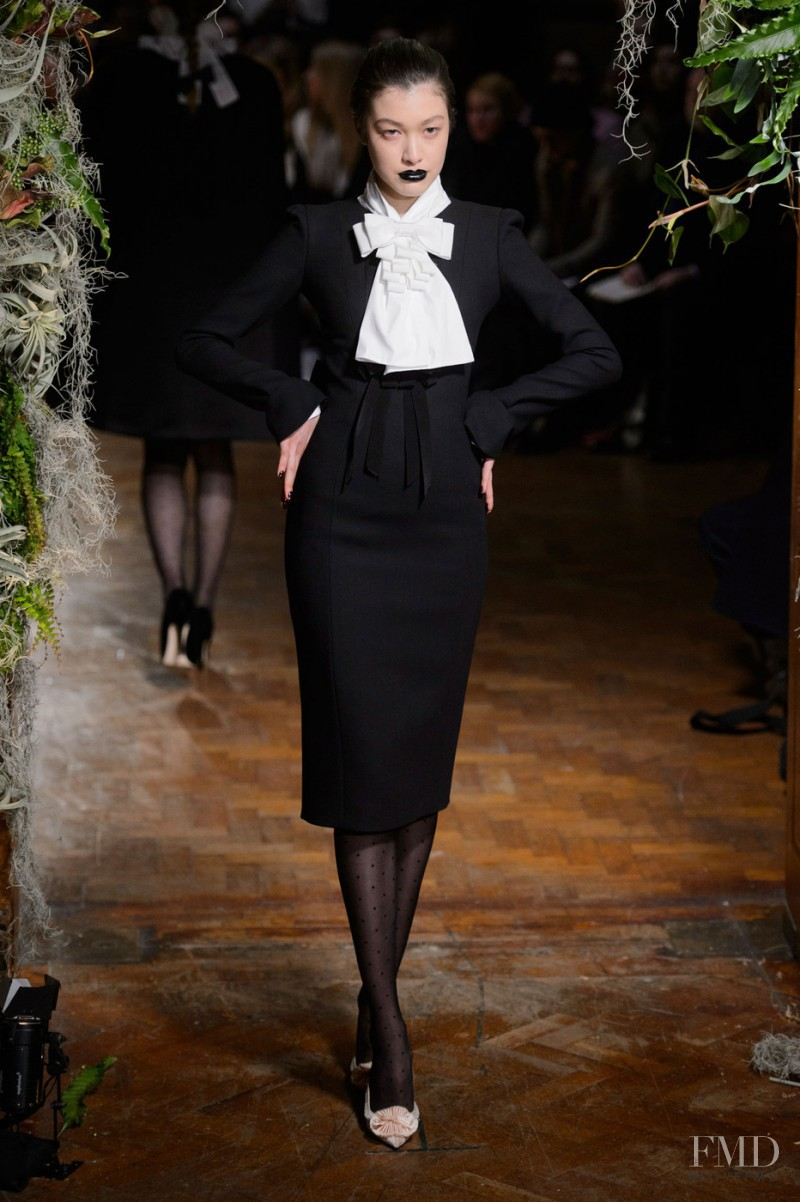 Kouka Webb featured in  the Giles fashion show for Autumn/Winter 2015