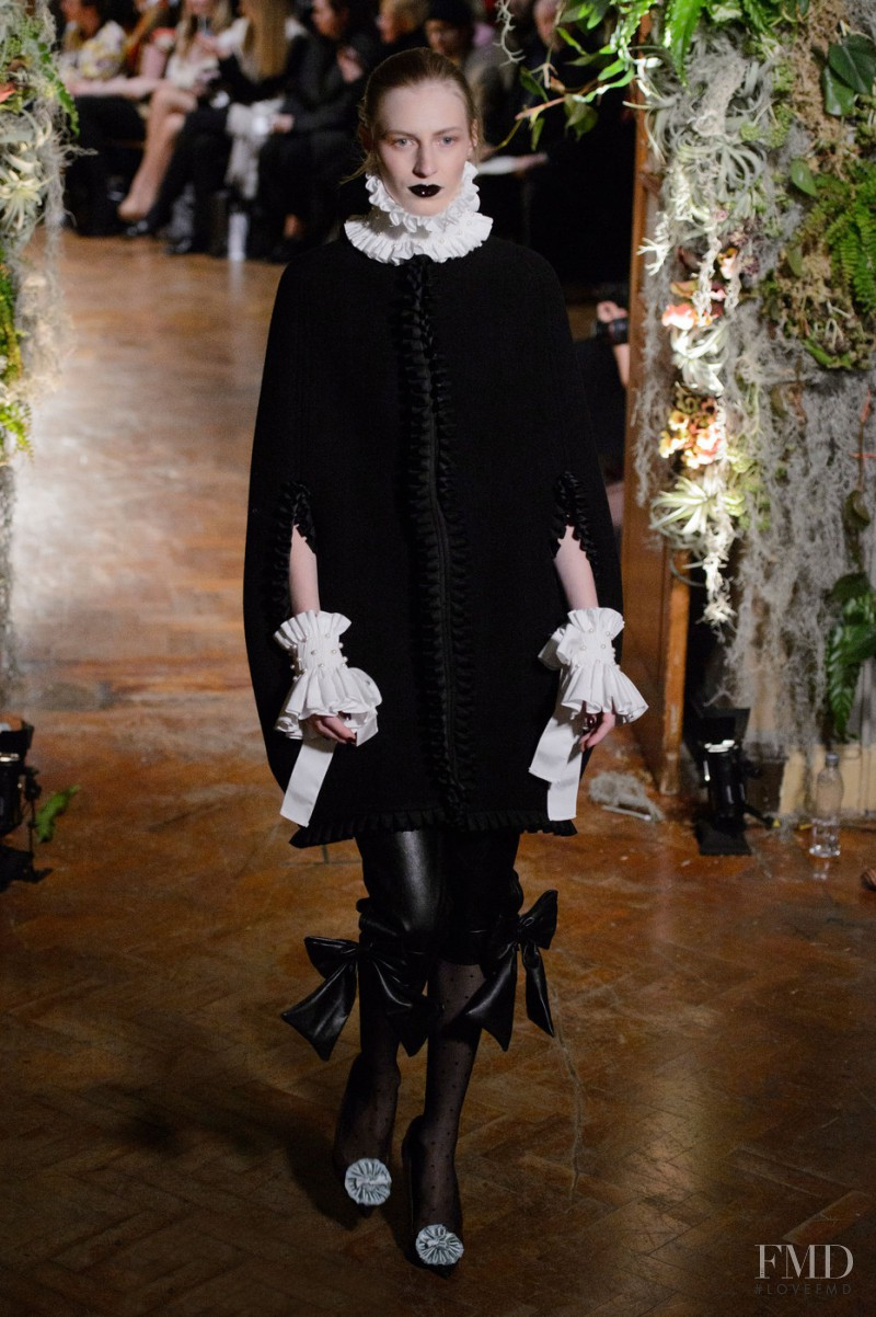 Julia Nobis featured in  the Giles fashion show for Autumn/Winter 2015