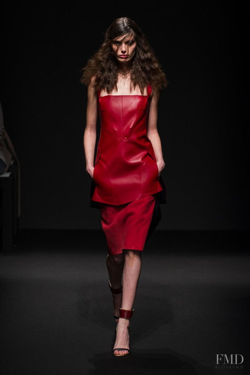 Giulia Manini featured in  the Esteban Cortazar fashion show for Autumn/Winter 2015
