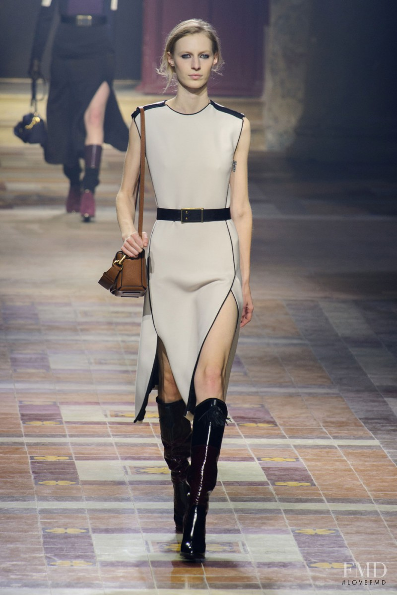 Julia Nobis featured in  the Lanvin fashion show for Autumn/Winter 2015