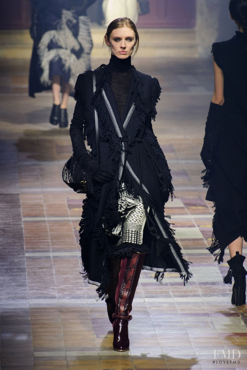 Olga Sherer featured in  the Lanvin fashion show for Autumn/Winter 2015