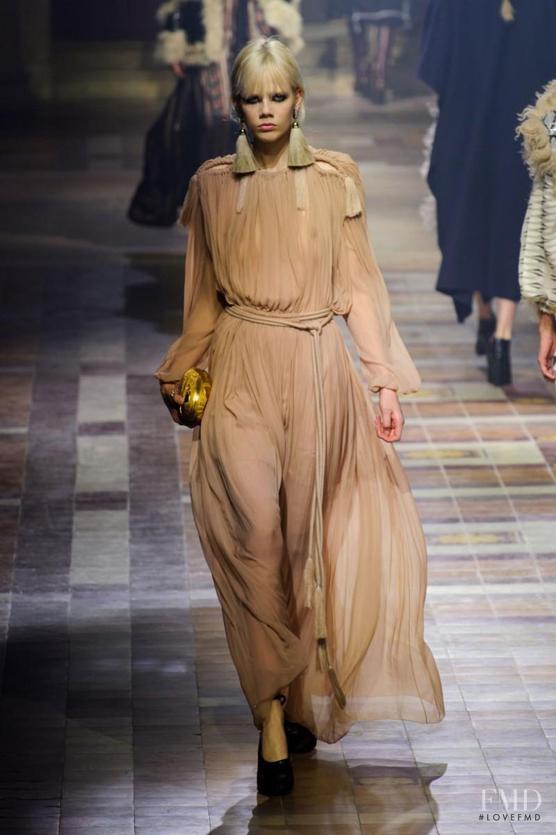 Marjan Jonkman featured in  the Lanvin fashion show for Autumn/Winter 2015