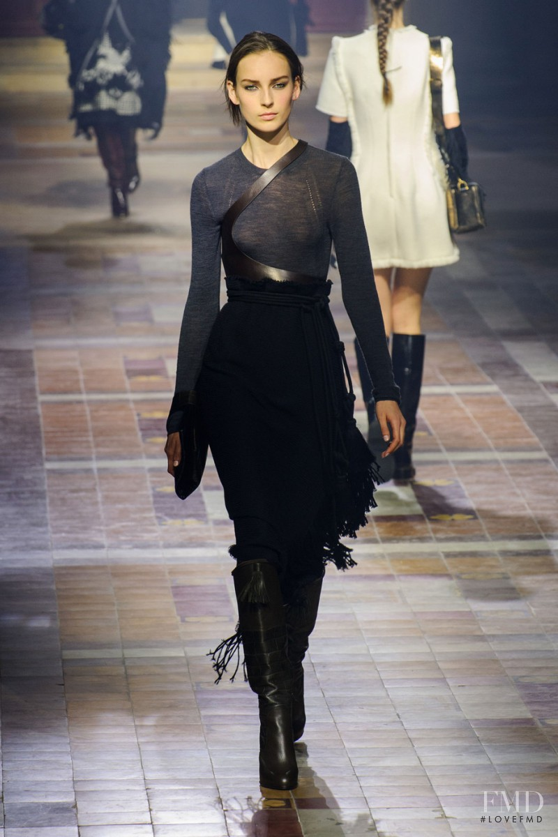 Julia Bergshoeff featured in  the Lanvin fashion show for Autumn/Winter 2015