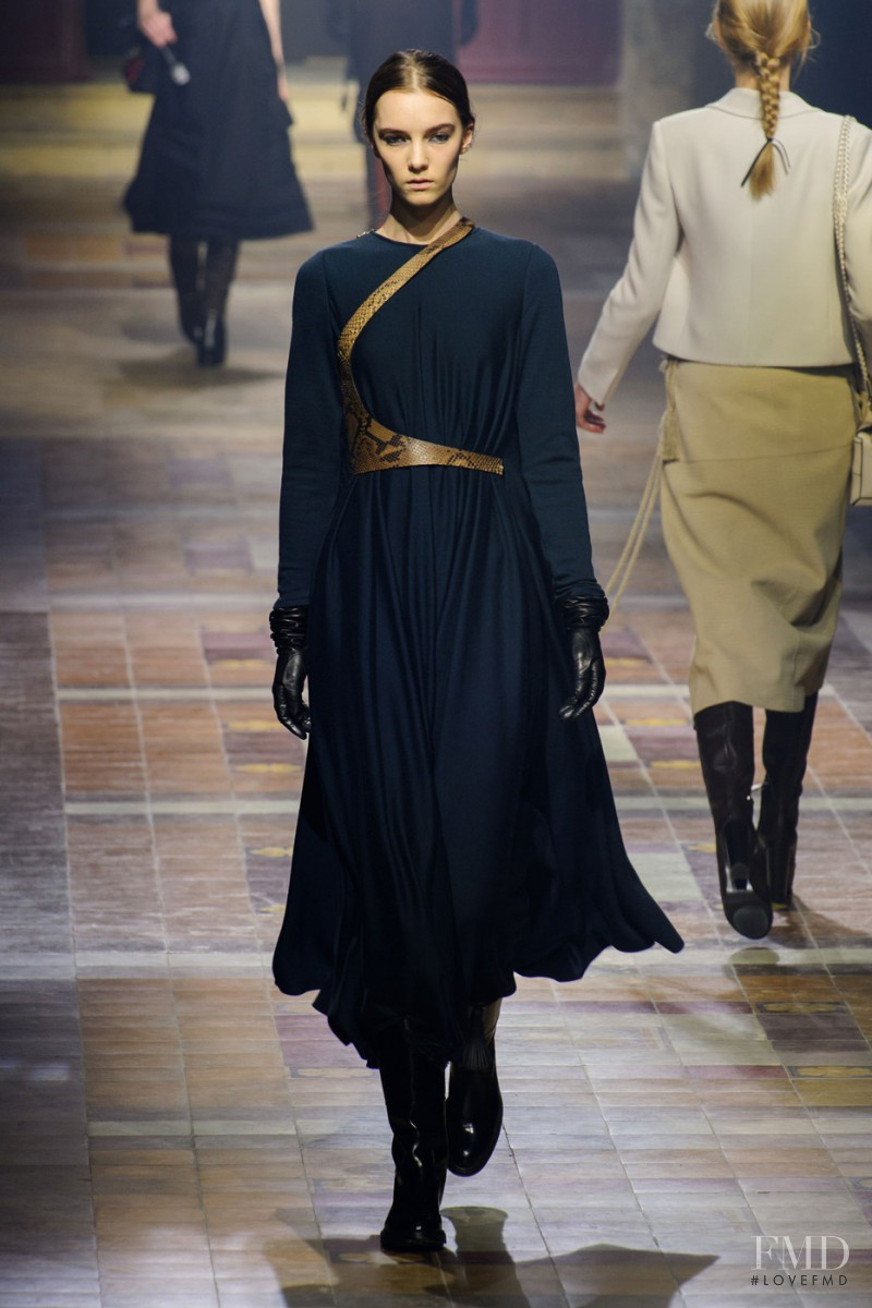 Irina Liss featured in  the Lanvin fashion show for Autumn/Winter 2015