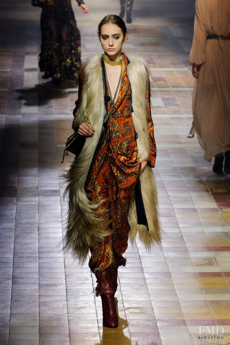 Lia Pavlova featured in  the Lanvin fashion show for Autumn/Winter 2015