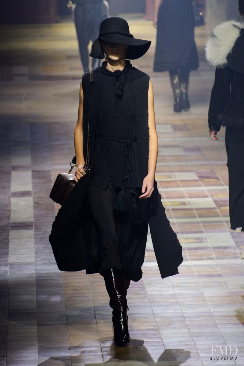 Waleska Gorczevski featured in  the Lanvin fashion show for Autumn/Winter 2015