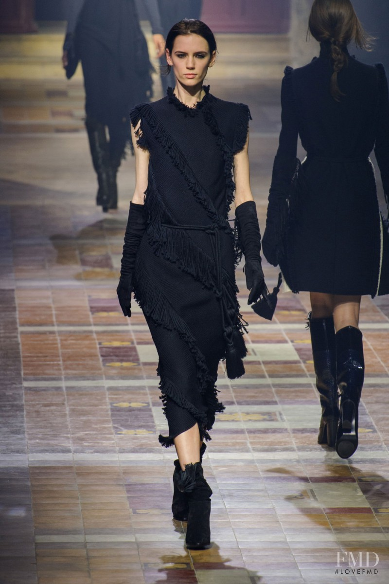 Sarah Stewart featured in  the Lanvin fashion show for Autumn/Winter 2015
