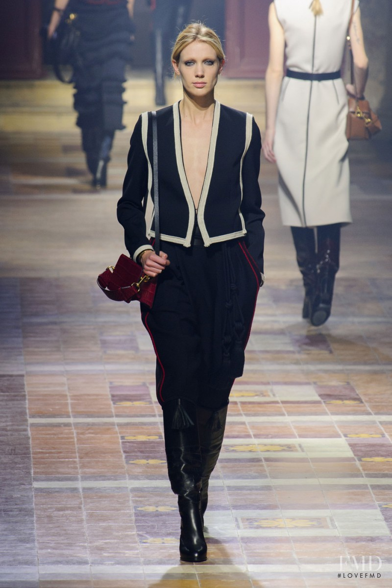 Annely Bouma featured in  the Lanvin fashion show for Autumn/Winter 2015