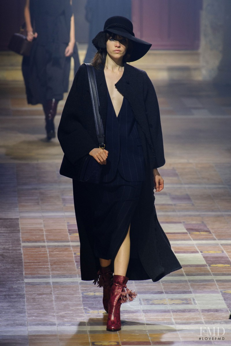 Grace Hartzel featured in  the Lanvin fashion show for Autumn/Winter 2015