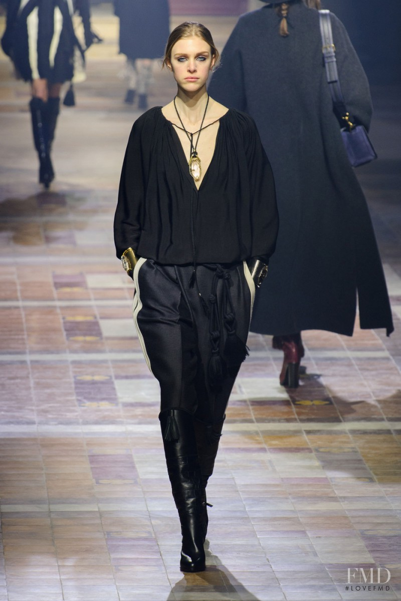 Hedvig Palm featured in  the Lanvin fashion show for Autumn/Winter 2015