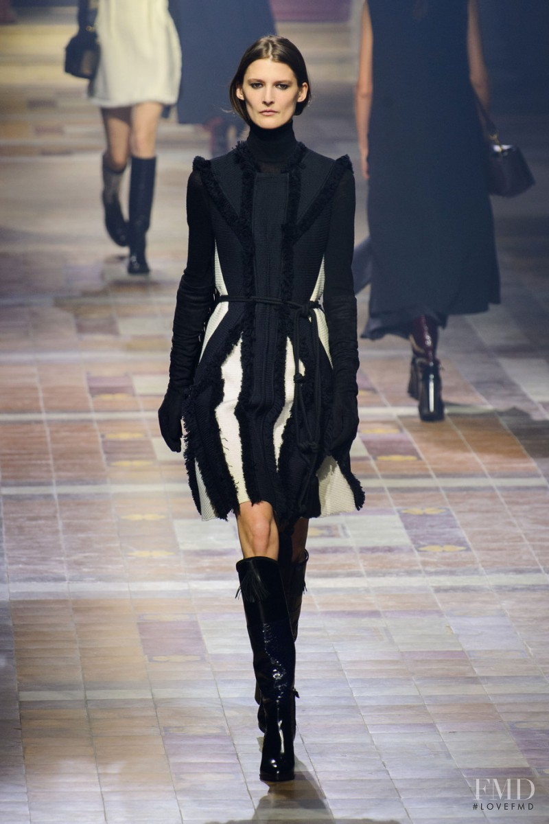 Marie Piovesan featured in  the Lanvin fashion show for Autumn/Winter 2015