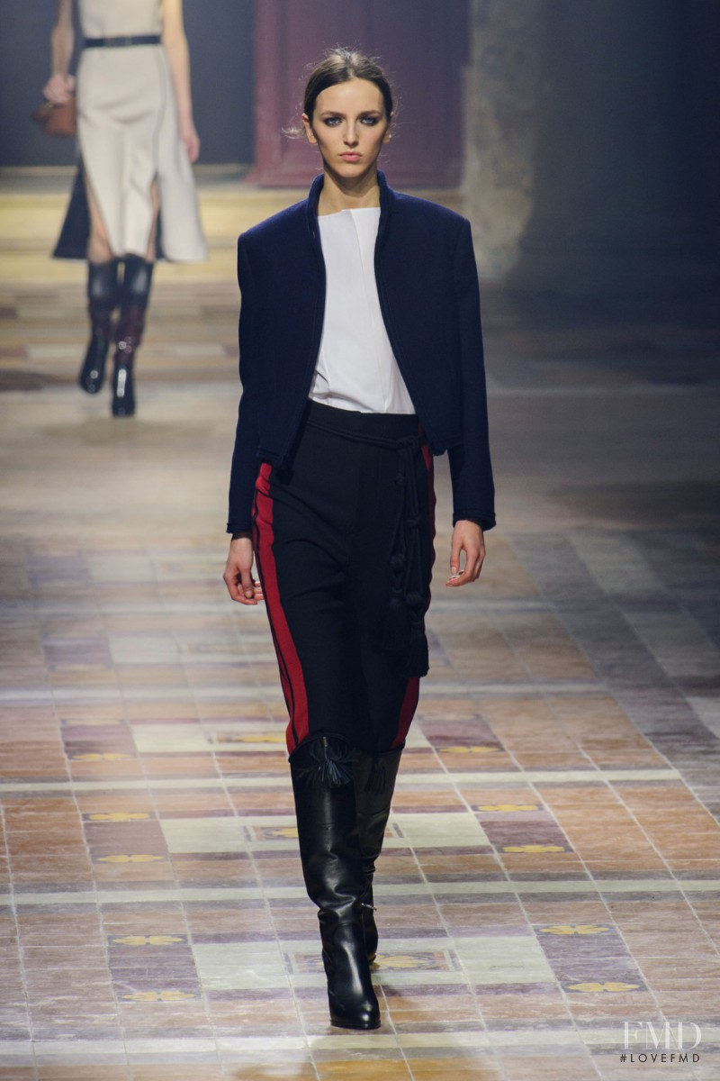 Sasha Antonowskaia featured in  the Lanvin fashion show for Autumn/Winter 2015