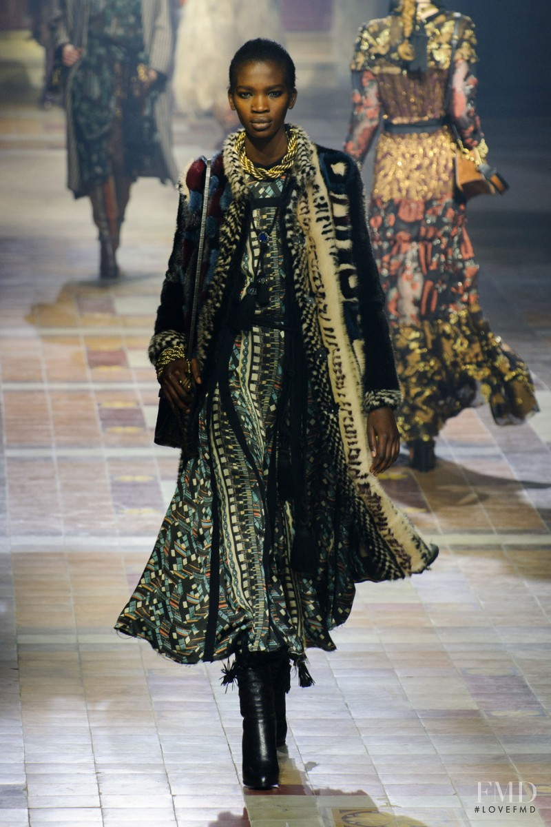 Aamito Stacie Lagum featured in  the Lanvin fashion show for Autumn/Winter 2015
